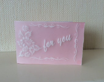 Gift Card - Parchment Craft, flowers, blank , for you  , wedding, birthday