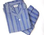 Mens Pajama Set - Vintage Pajamas for Men - Manhattan Pajamas - Christmas Gift for Men - Retro Pajama Set - Sleepwear