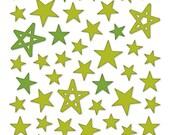 Bella Blvd - Green Puffy Star Stickers - 50 pieces - PFST1676