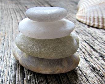 Rock Cairn - Zen Stacking Stones - Beach Rocks - Zen Stones - Desktop Zen Garden Decor - Meditation Alter - Relaxation Gift - Friend Gift