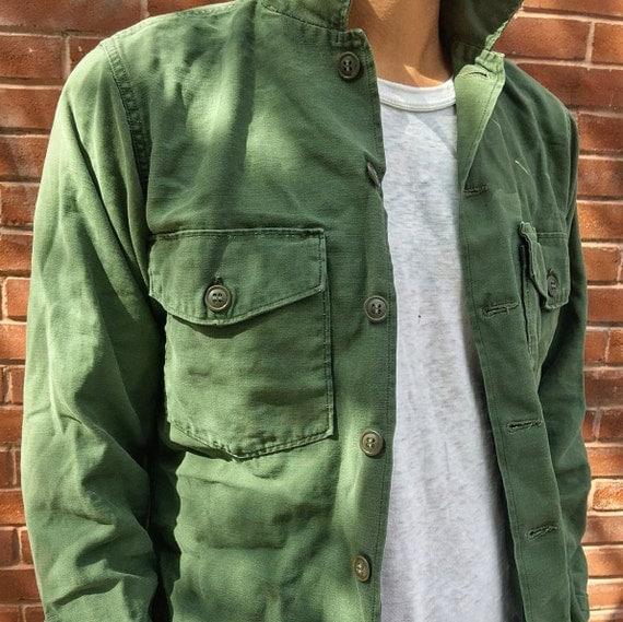 Vintage OG-107 Military-Issued Olive Green Shirt See Size Options