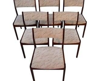 Six Farstrup Rosewood Dining Chairs Mid Century Danish Modern