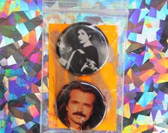 Enya / Yanni Button Set
