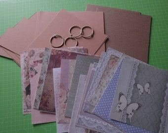DIY Scrapbook Album Kit Vintage 6 x 6 inch