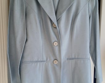 Dani Max Powder Blue Sheath Dress With Matching Coat - Size 10 - New With Tags