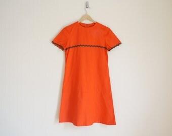 Vintage 1960s Red Dress