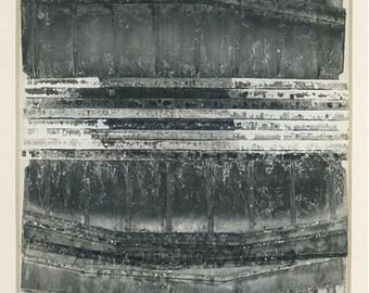 Abstract scuplture vintage art photo by J. Hampl Czech