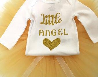 Little Angel Tutu Set, Newborn Hospital Outfit, Newborn Girl Coming Home Outfit, Baby Girl Coming Home Outfit, Newborn Girl Hospital Outfit