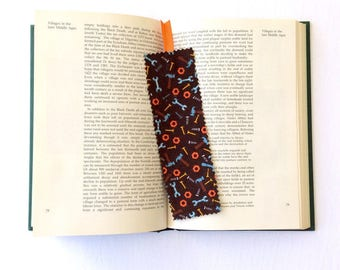 Tool Bookmark, Brown Fabric Bookmark