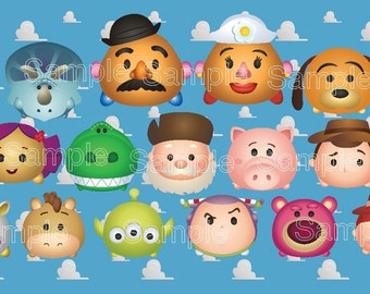 Toy Story Tsum Tsum Characters Toy Story Tsum Tsum Party Toy Story Birthday Baby Shower ...