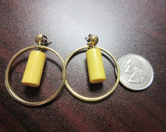 Big Bakelite Dangle Earrings