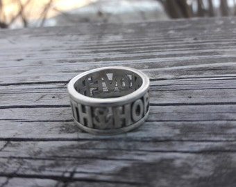 James Avery Love Faith Hope Sterling Silver Ring sz 6