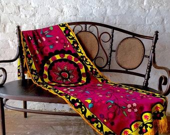 VERY RARE!!! Uzbek Suzani fully hand embroidered from UZBEKISTAN