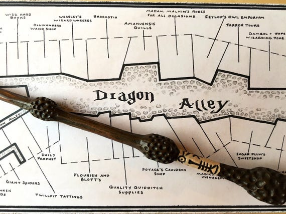 Alley Harry Potter Book Accurate Hand Drawn Map