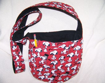 SNOOPY with a mustache Hand made Disc Golf Bag