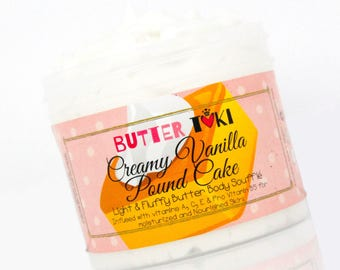 CREAMY VANILLA POUND Cake New Body Butter Soufflé Sample Size 1oz- Body Lotion - Body Butter