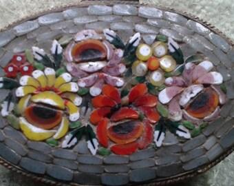 Tiny Vintage Mosaic Treasure/Pill Box