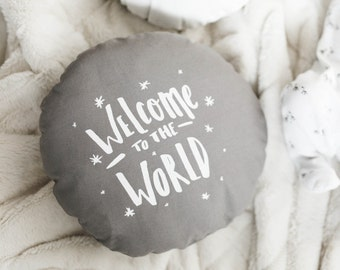 Pewter | Welcome To The World | Cushion