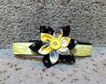 Flower Dog Collar/leash sets, Fabric flower dog Collar, colorful collar,  dog collar , collars, Summer dog collar,