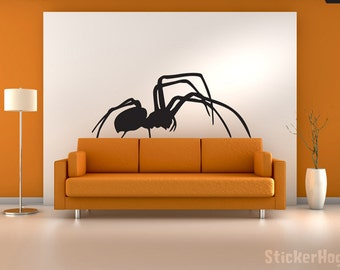 Black Widow Spider Vinyl Wall Decal Graphics Bedroom Home Decor