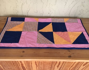 One of a kind, Baby Quilt, Toddler Quilt, Lap Quilt, handmade, vintage inspired nursery decor, baby girl