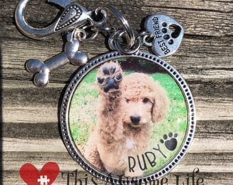 Fur Kids Keepsake Photo keychain Set Under Jewelers Grade Resin Pet/dog/cat keychain