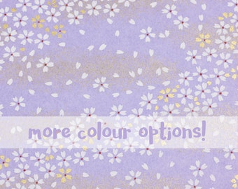 Floral 'Cherry Blossom' Chiyogami Paper for Weddings, Card Making, Jewellery, Bookbinding Projects
