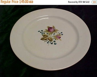 SALE Circa 1880's Alfred Meakin Royal Ironstone China Rose Design Round Plate Made In England