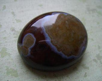 A Large Antique Agate Brooch/Pin - Pebble Agate - Victorian/Edwardian.