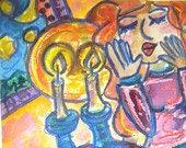 special order for Dalia Shabbat Candles 5x7
