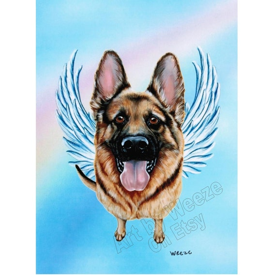 German Shepherd Angel German Shepherd Dog Angel By Artbyweeze