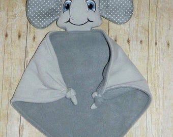 Girl or Boy Lovey security Blanket (deer, monkey, giraffe, or elephant)