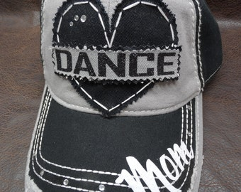 Dance OR Cheer OR Gymnastics mom distressed hat