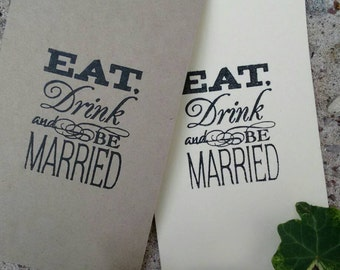 set of 10 large  'Eat,drink and be married' tags wishing tree,favors,save the date