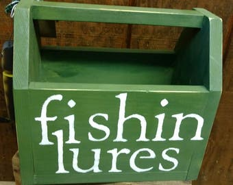 Fishing Lures Wood Box