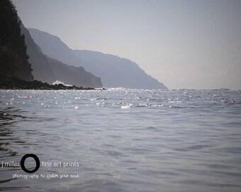 kauai photo - ocean photography - napali coast - nautical photograph - ocean photograph - fine art photograph - canvas print - ocean canvas