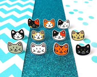 Cat pins, cat brooch, cat lapel pin, cat gifts, cat jewellery, cat lover gift, crazy cat lady, cat pins, lapel pin, cute brooch