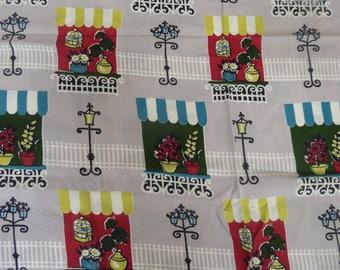 Vintage length of David Whitehead Rayon Fabric
