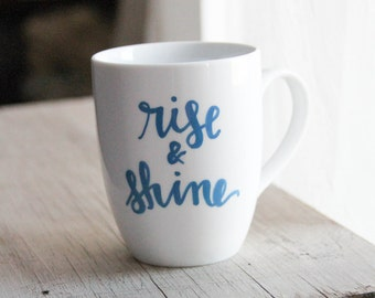 Hand Lettered Mugs - CUSTOM