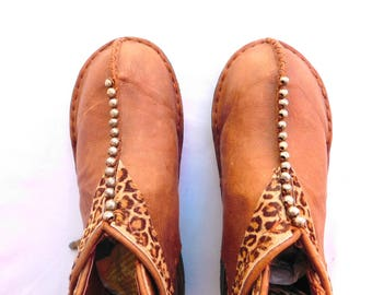 exclusive handmade brown leather shoes