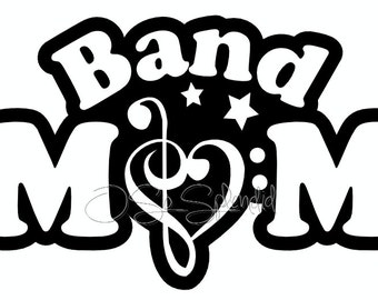 Band Mom - Vector Graphic - Personal Use - pdf, svg, png -  Cutting File, Clip art