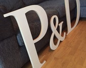 Large Handmade Personalised MDF Wooden Letters or Numbers for Weddings and Parties