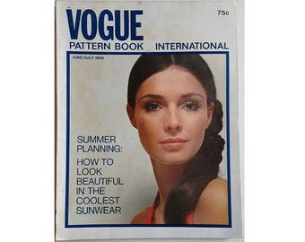 Vintage 60's Vogue Pattern Book International June July Summer 1969 (U.S.A. Edition)