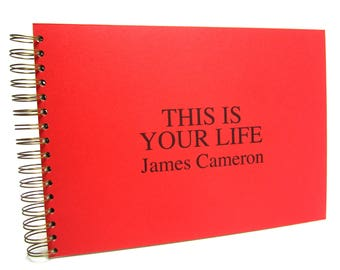 This Is Your Life Memory Book, A5/A4, Scrapbook, Photo Album, Keepsake, Personalised Gift