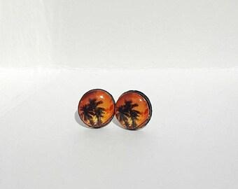Orange Skies Post Earrings