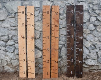 Growth chart, ruler growth chart, wood growth chart, giant ruler, sign, painted, nursery decoration, boy, girl, gift, wooden growth chart