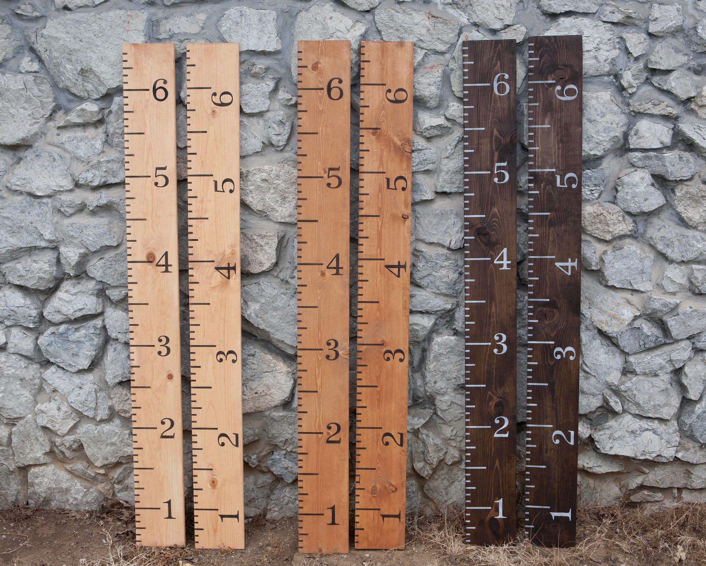 Growth Chart Ruler Growth Chart Wood Growth Chart Giant Ruler