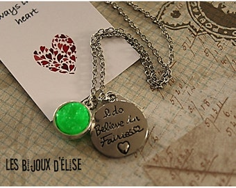 Personalized I Do Believe In Fairies Necklace
