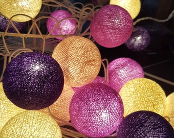 CB0010 Chirtsmas Ball Lights for home decoration,wedding patio,indoor string lights,bedroom fairy lights,20 Bulbs