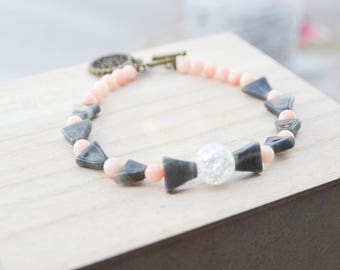 Bracelet gemstone - Meditation - Yoga - Gems - agate